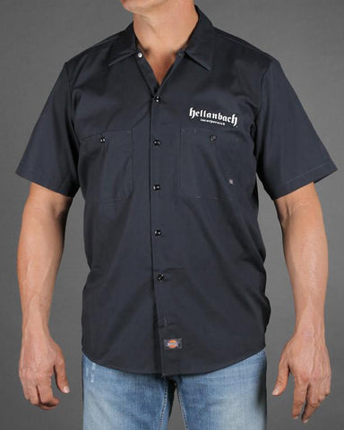 Image of Mens Work Shirt - Built Fast On Dickies Work Shirt