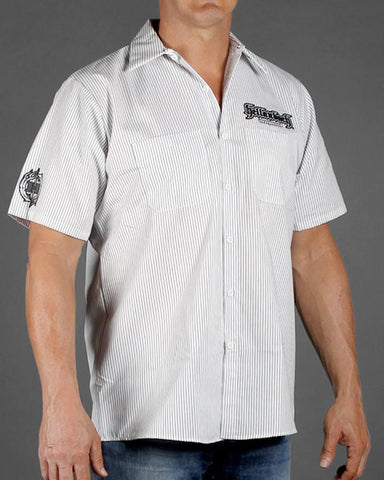 Mens Work Shirt - Hellanbach 4D Work Shirt W/Carbon Fiber Pattern
