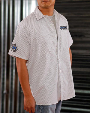 Pinstripe 3D Work Shirt - Blue