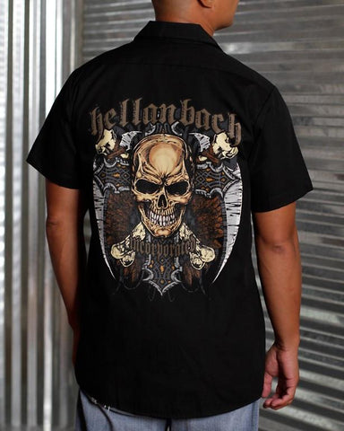 Image of Mens Work Shirt - Reaper On Dickies Work Shirt
