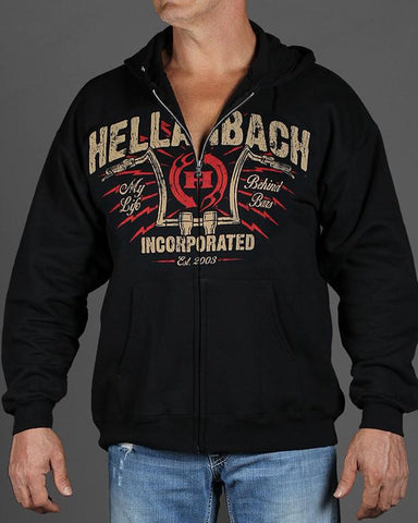 Image of Mens Zip-Up Hoodie - Behind Bars Zip-Up Hoodie