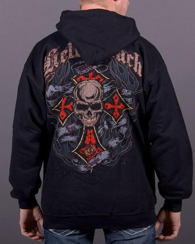 Mens Zip-Up Hoodie - Live To Ride Full-Zip Up Hoodie