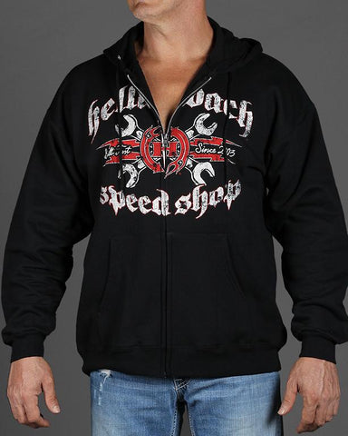 Mens Zip-Up Hoodie - Speed Shop Zip-Up Hoodie