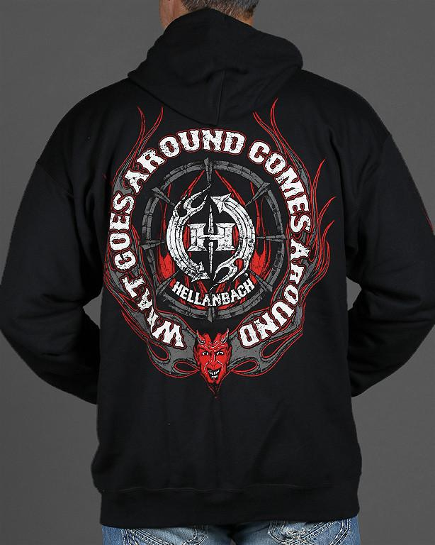 Mens Zip-Up Hoodie - What Goes Around Comes Around Zip-Up Hoodie