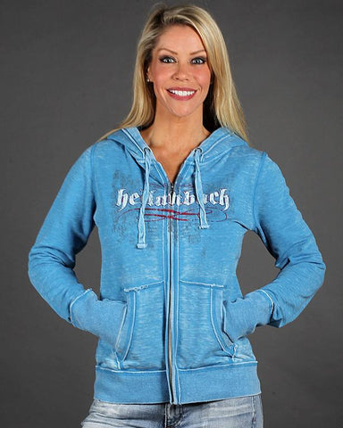 Image of Womens Hoodies - Angel Winged Zen Full-Zip Fleece Hood