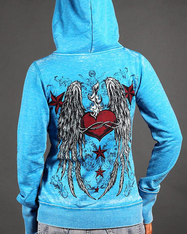 Image of Womens Hoodies - Eternal Flame Zen Full-Zip Up Hoodie
