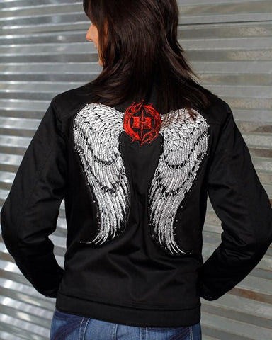 Womens Jacket - Angel Wings Jacket W/ Swarovski Crystals