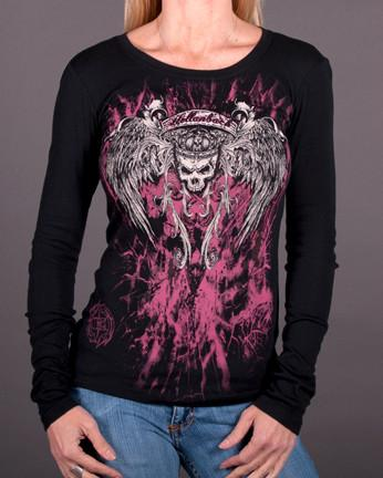 Image of Womens Long Sleeve - Queen Long Sleeve Crew Neck Tee