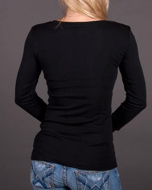 Queen Long Sleeve Crew Neck Tee