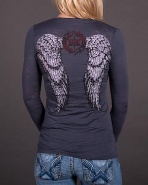 Angel Wings Long Sleeve Burnout