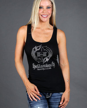 Womens Tank - HB Crystal Logo On Bella Tank Top