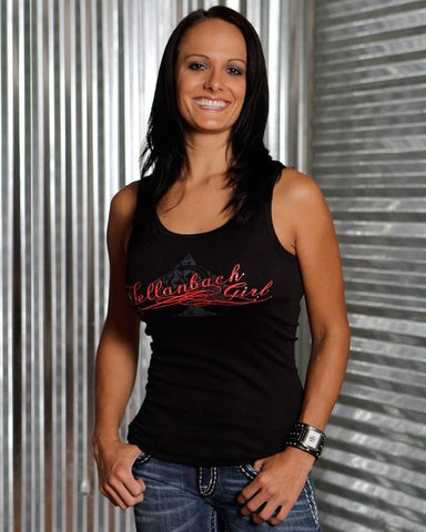 Womens Tank - Hellanbach Girl Bella Tank Top With Swarovski Crystals