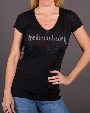 Image of Womens V-Neck Burnout - Angel Wings V-Neck Burnout