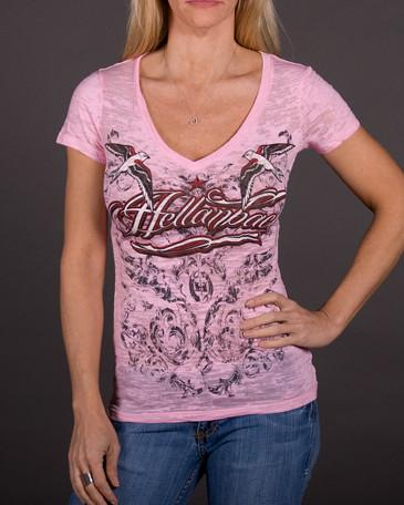Womens V-Neck Burnout - Eternal Flame V-Neck Burnout