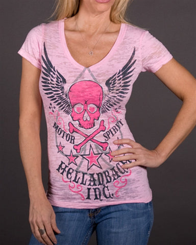Womens V-Neck Burnout - Motor Spirit V-Neck Burnout
