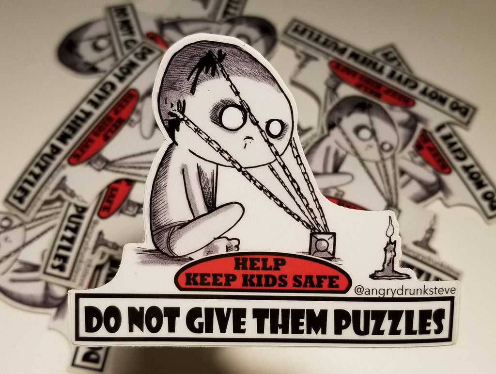 "Hellraiser - 4""  Safety Kid sticker"