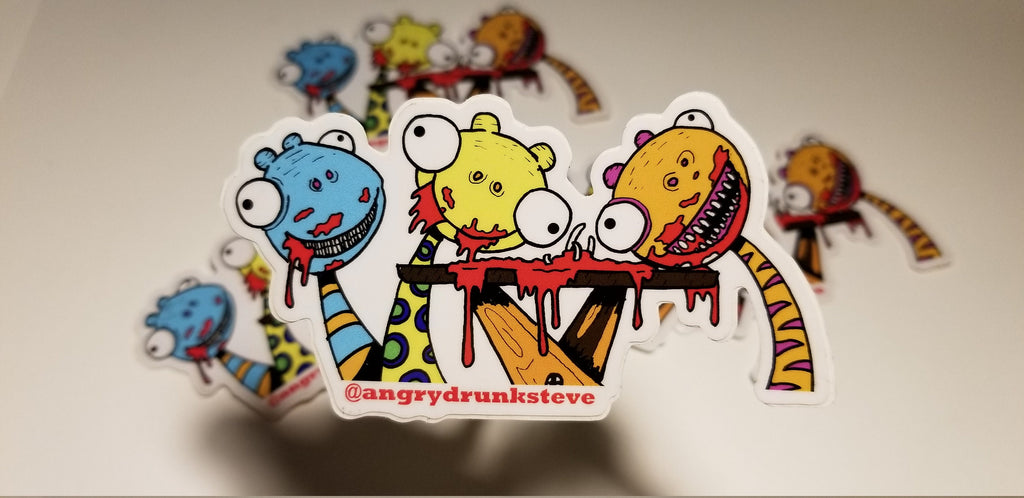 Munchies!  Large Vinyl Sticker