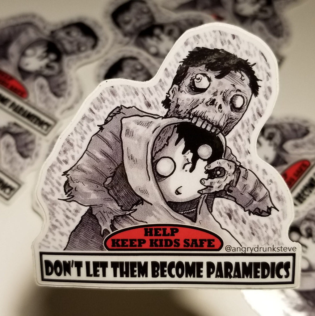 "Return of the Living Dead - 4""  Horror Safety Kid sticker"