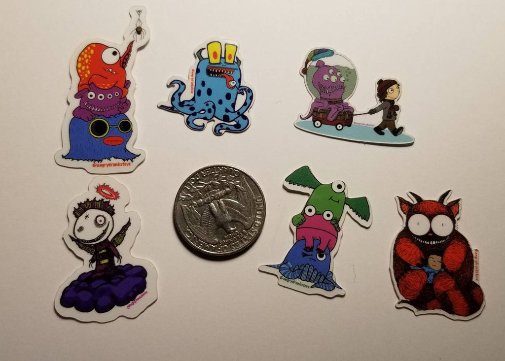 MINI MONSTERS sticker set