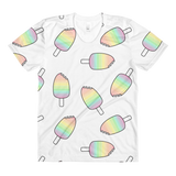 Unicorn Popsicle women's crew neck t-shirt