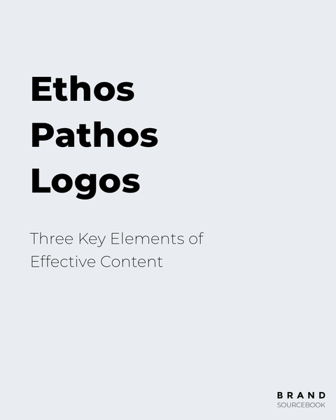 According to Aristotle's Rhetoric there are three key elements of persuasion: ethos, pathos, and logos. Here's how you can apply this concept to creating effective content for your brand.