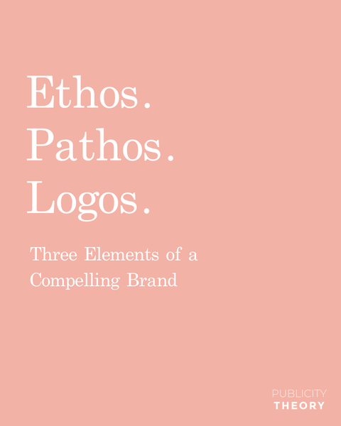 According to Aristotle's Rhetoric there are three key elements of persuasion: ethos, pathos, and logos. Here's how you can apply this concept to building a compelling brand: