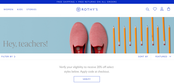 Rothy's Community-Driven Ecommerce Site Experience