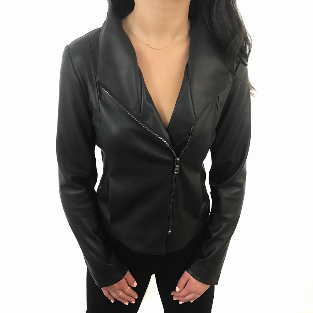Flattering moto jacket fits like a glove and perfect for all occasions