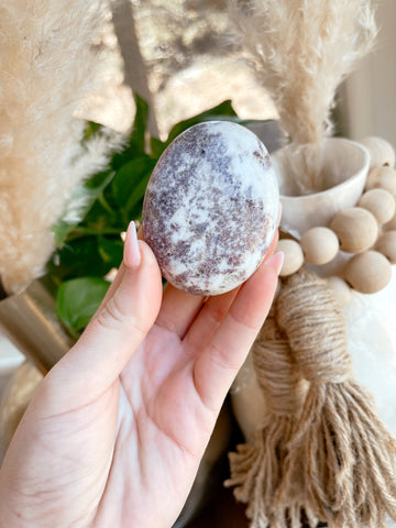 Anxiety Fighting x Mind Calming| Lepiolite Palm Stone