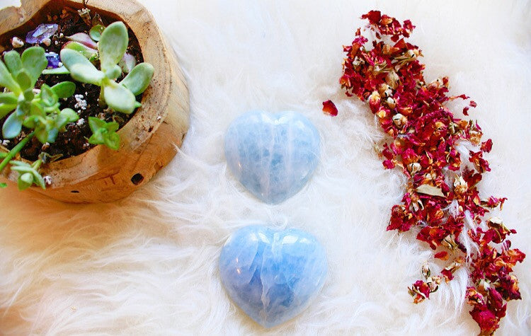 Calming x Communication | Blue Calcite Hearts