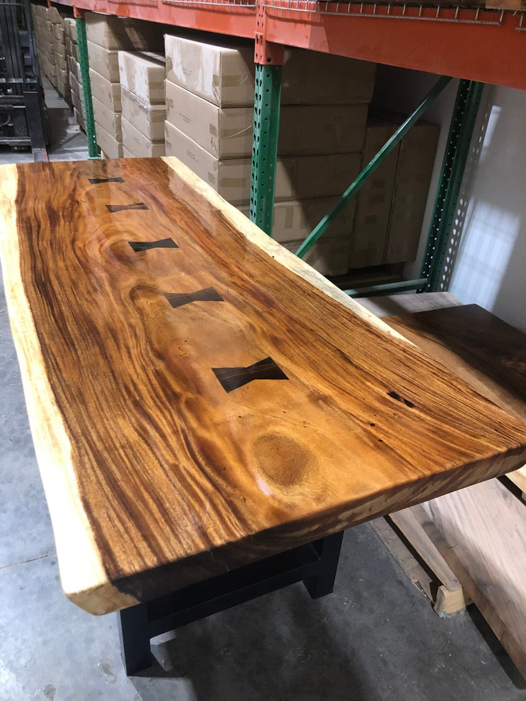 Live Edge Walnut Dining Table - Live Edge Executive Desk
