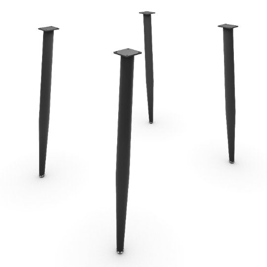 UMBUZÖ Modern Desk or Dining Table Legs - Mid Modern Rod Legs