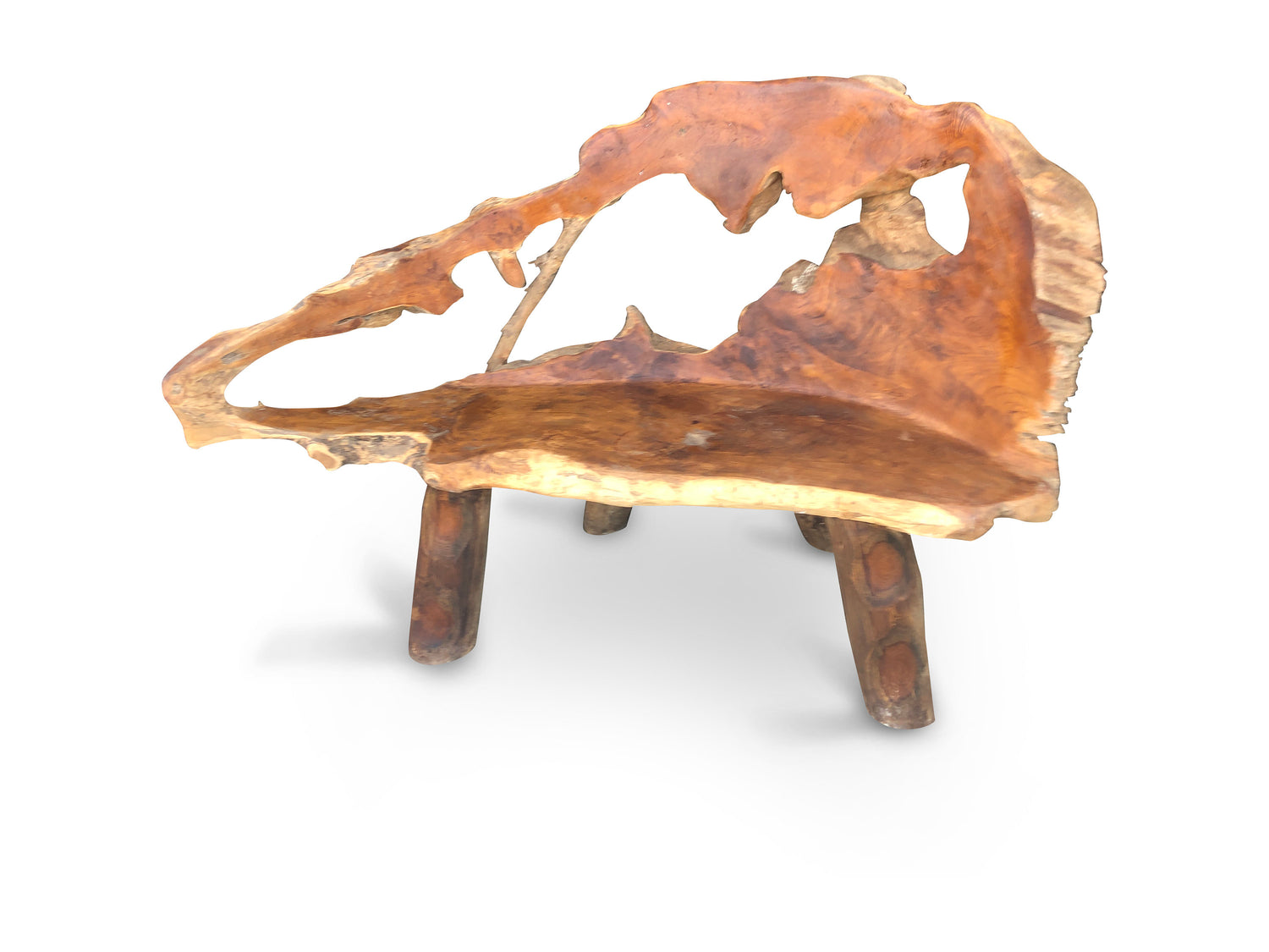 UMBUZÖ Reclaimed Teak Root Bench