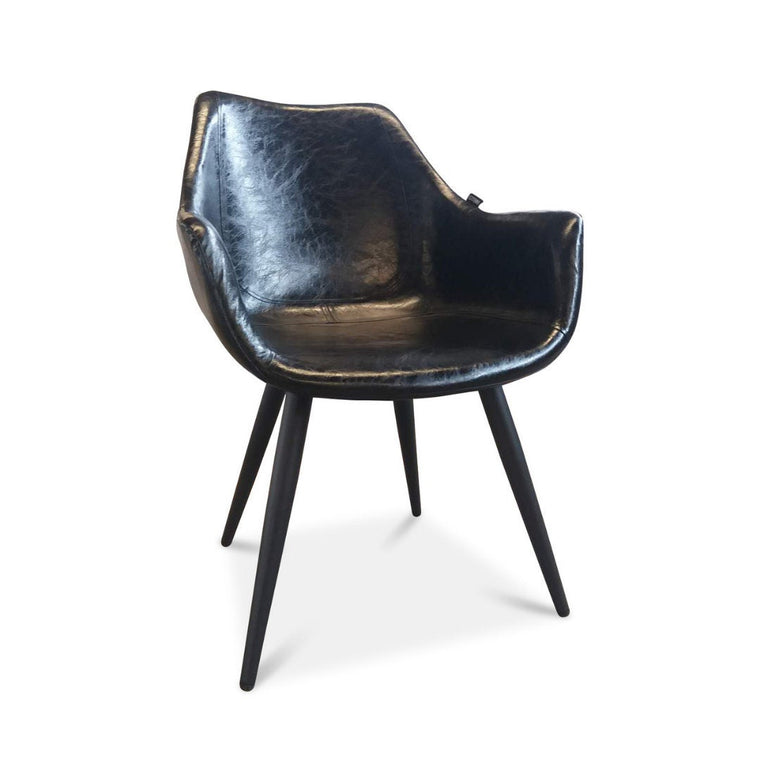 UMBUZÖ Mid Modern Leather Chair