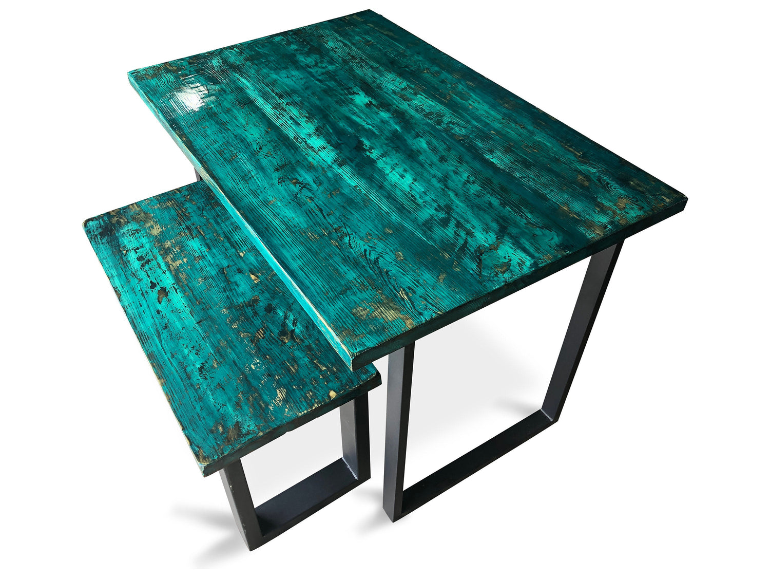 Wood Dining Table & Bench