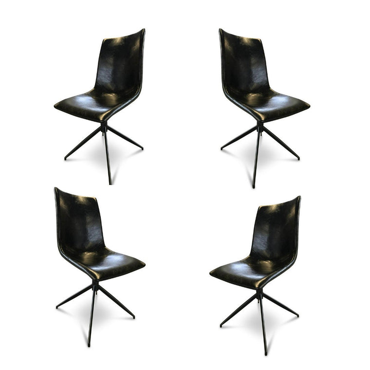 UMBUZÖ Modern Leather Chair Set (4)