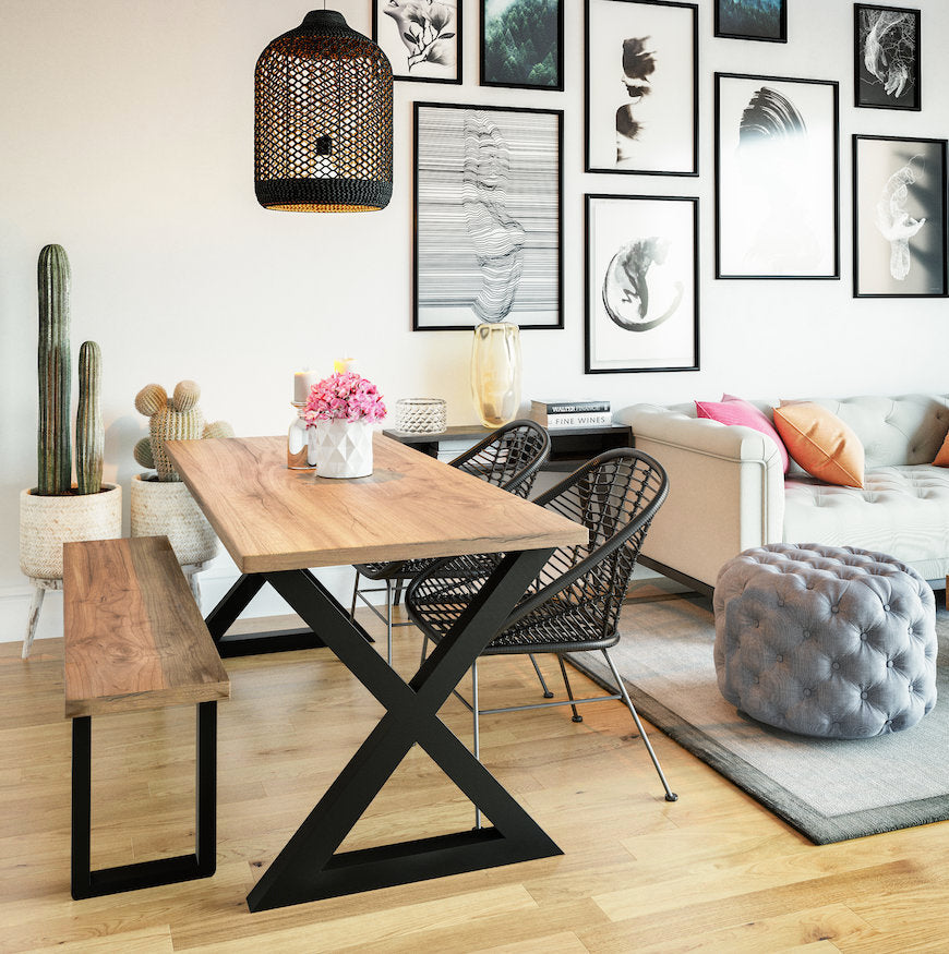 New! UMBUZÖ Wood Dining Table & Bench