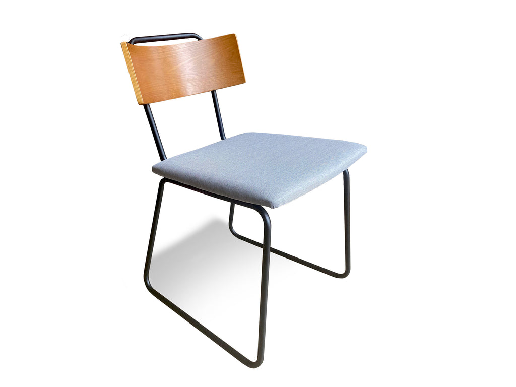 UMBUZÖ Modern Wood & Fabric Dining Chair