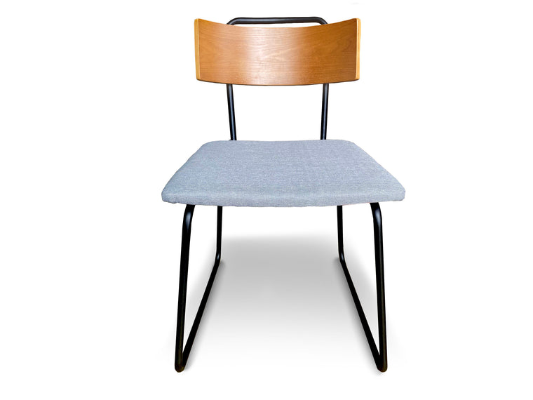 UMBUZÖ Modern Wood & Fabric Dining Chairs (Set of 4)