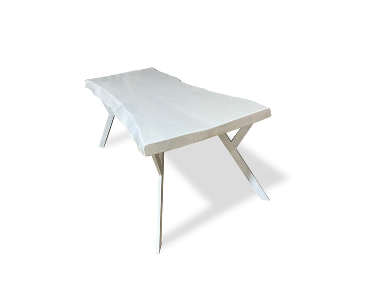 Modern Coastal Dining Table - White Dining Table