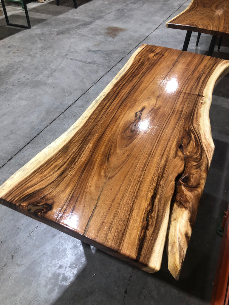 Live Edge Walnut Dining Table - Live Edge Desk