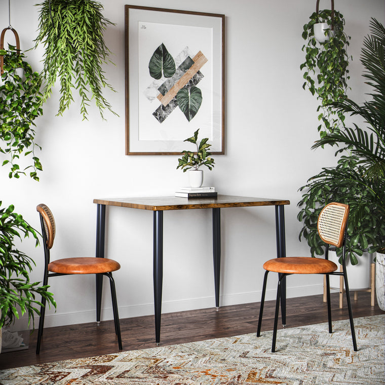 UMBUZÖ Small Dining Table - Apartment Dining Table for 2, Wood Dining Table