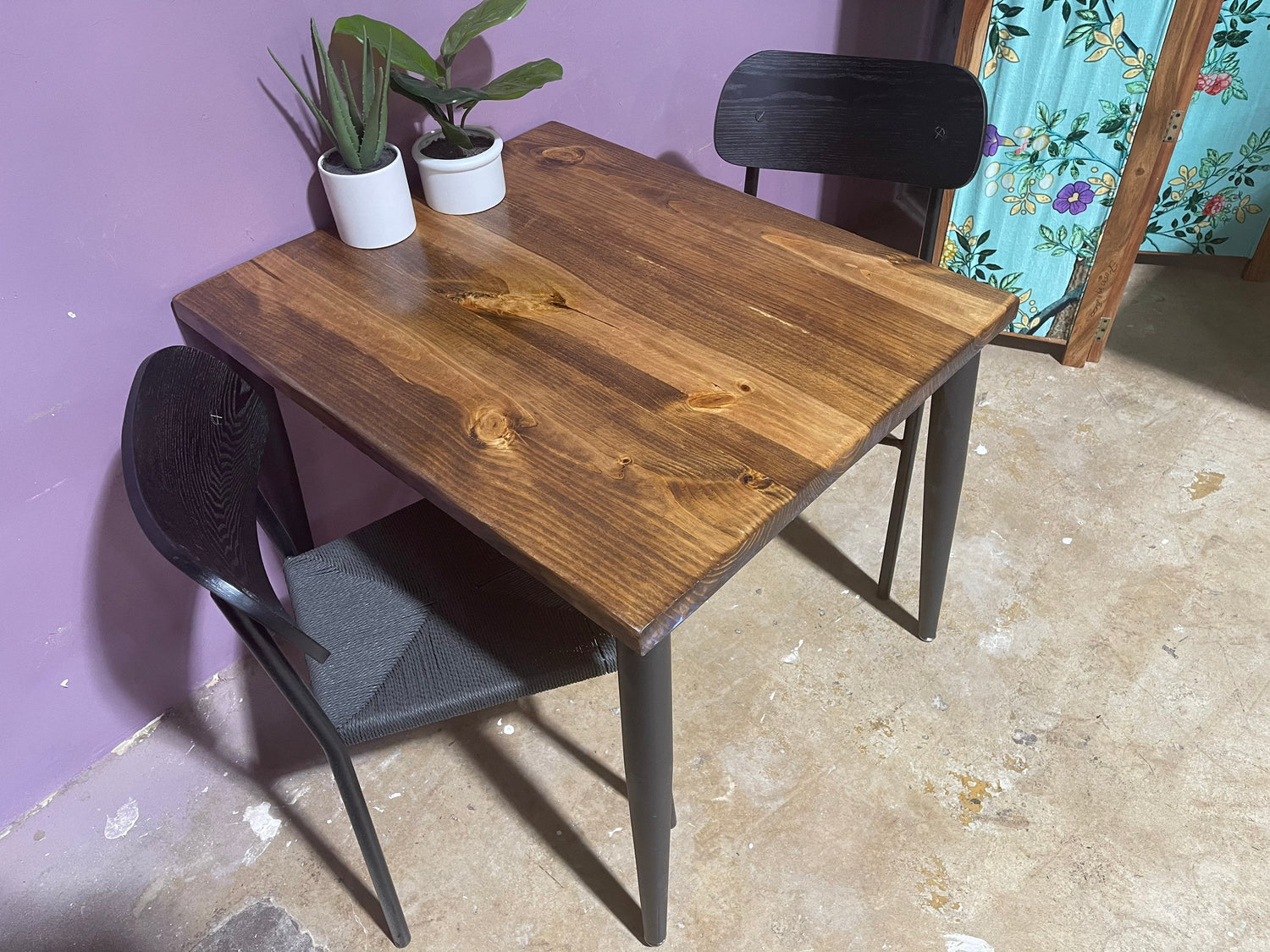 Small Dining Table - Apartment Dining Table for 2, Wood Dining Table