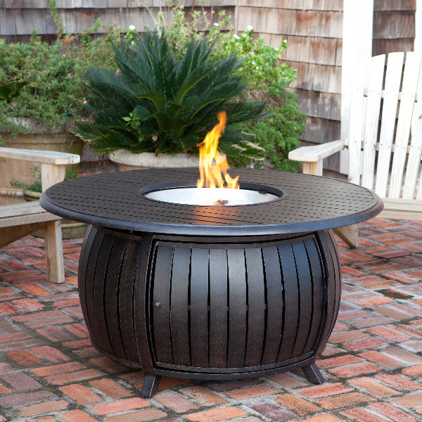 Grand Cooper Extruded Aluminum Round LPG Fire Pit - The Fire Pitz