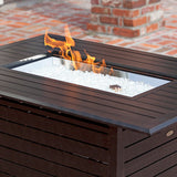 Longmont Extruded Aluminum Rectangular LPG Fire Pit - The Fire Pitz
