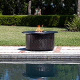 Bellante Woven Cast Aluminum LPG Fire Pit - The Fire Pitz