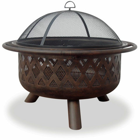 Bronze Lattice Fire Bowl - The Fire Pitz