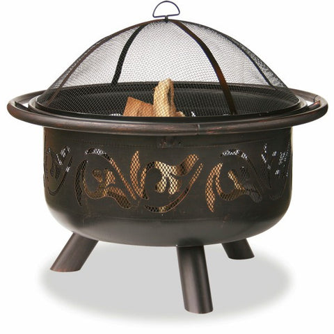 Bronze Swirl Fire Bowl - The Fire Pitz