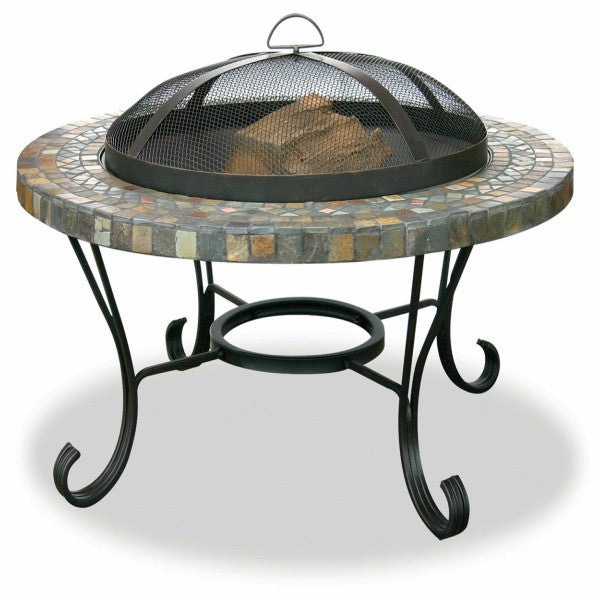 Slate Tile And Copper Fire Pit - The Fire Pitz