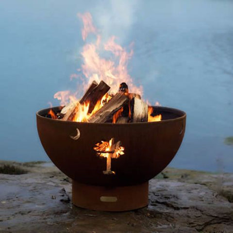 Tropical Moon Fire Pit - The Fire Pitz | Wood Burning